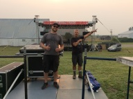 Setting up for Jim Belushi with Garon Lee Sound
